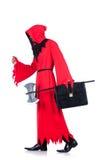 Палач в красном костюме Стоковое Изображение