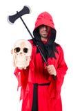 Палач в красном костюме Стоковые Изображения