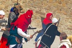Палач на историческом фестивале в крепости Sudak Стоковые Изображения RF