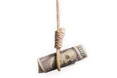 Палач долларовой банкноты Стоковое фото RF