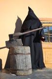 Палач смертной казни с огромной осью Стоковые Фотографии RF