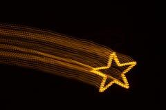 Падающая звезда, светлая картина Стоковое Изображение RF