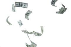 Падающ 100 долларовых банкнот Стоковое фото RF