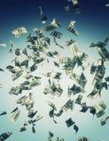 Падая банкнота Стоковые Фото