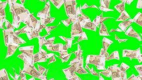 Падая банкноты русского rubel Стоковые Фото