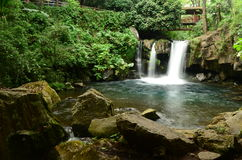 Падая вода в национальном парке в Uruapan Michoacan Стоковые Изображения