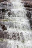Падая вода, деталь водопада в Angel Falls, Венесуэле Стоковая Фотография
