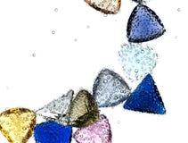 падая вода самоцветов чисто Стоковые Фото