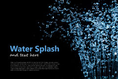 Падая выплеск падений воды Стоковое Изображение