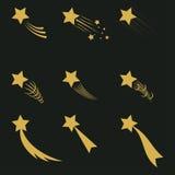 Падая звезды золота иллюстрация вектора