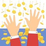 Падая значок денег Стоковые Фото