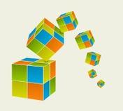 Падая кубы Стоковые Изображения