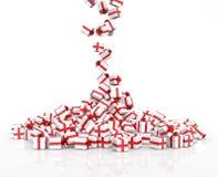 Падая подарочные коробки рождества Стоковая Фотография