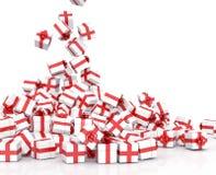 Падая подарочные коробки рождества Стоковое Фото