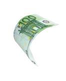 Падая примечание денег евро Стоковое Фото