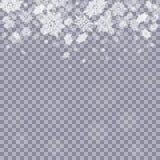 Падая снежинки на предпосылке Стоковые Фотографии RF