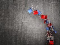 Падая стул Стоковое Фото