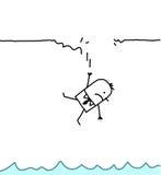 падая человек Стоковое Фото