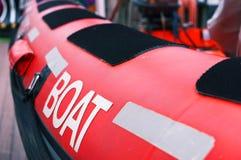 Пал, веревочка, спасательная лодка стоковое изображение