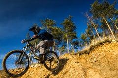 Падение велосипеда Стоковое Фото