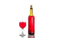 Падение вина в стекле Стоковое Фото
