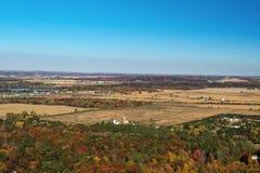 Падение воздушный Eau Claire Висконсин и река Chippewa Стоковая Фотография