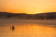 Падение, восход солнца озера Стоковое Фото