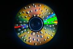 Падение воды КОМПАКТНОГО ДИСКА музыки Стоковые Изображения RF