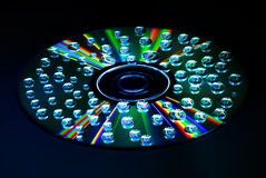 Падение воды КОМПАКТНОГО ДИСКА музыки Стоковое Изображение RF