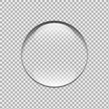 Падение воды стеклянная сфера Пузырь Стоковое фото RF