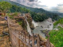 Падение воды Athirapilly Стоковые Фотографии RF