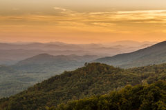 Падение в большой национальный парк закоптелых гор Стоковое Изображение