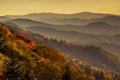 Падение в большой национальный парк закоптелых гор Стоковые Фотографии RF