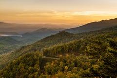Падение в большой национальный парк закоптелых гор Стоковое Фото