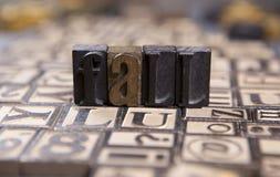 Падение в typeset деревянное Стоковое Изображение