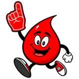 Падение крови бежать с пальцем пены иллюстрация вектора