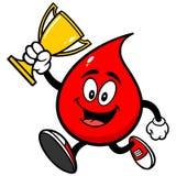 Падение крови бежать с трофеем иллюстрация вектора