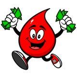 Падение крови с деньгами иллюстрация вектора
