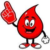 Падение крови с пальцем пены иллюстрация штока