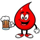Падение крови с пивом бесплатная иллюстрация