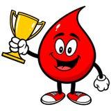 Падение крови с трофеем иллюстрация штока