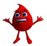падение крови Стоковая Фотография
