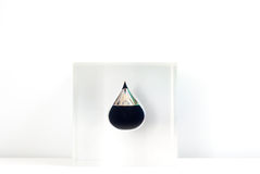 Падение масла черное золото Стоковое Фото