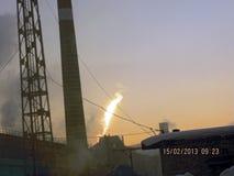 Падение метеорита в России Стоковое Фото