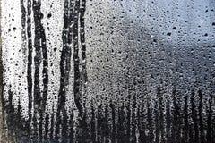 Падение на предпосылке окна зеркала Стоковое фото RF