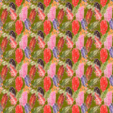 Падение осени высушило предпосылку текстуры картины лист дерева безшовную иллюстрация вектора
