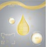 Падение решения коллагена, дизайн и предпосылка витамина Стоковое Изображение