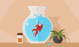 Падение рыб иллюстрация вектора