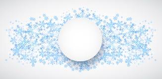 Падение снежка Предпосылка темы зимы праздника иллюстрация вектора