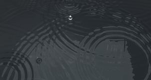 Падение струится поверхность воды Стоковое фото RF